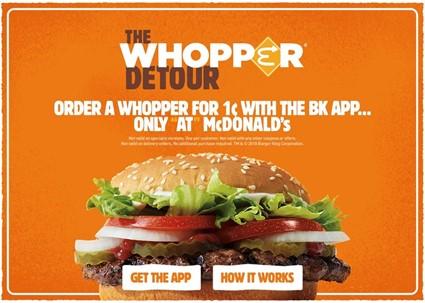 Burger King「The Whopper Detour」